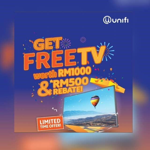 Pay unifi 30Mbps for RM 39/month** & Get 42″ TV For FREE